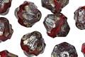 Czech Glass Merlot Baroque Bicone 11x10mm