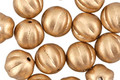 Czech Glass Matte Metallic Flax Gold Melon Round 8mm