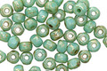 Czech Glass Turquoise Light Picasso Trica Beads 2.5x4mm