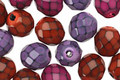 Czech Fire Polished Glass Berry Mix Round Snake Beads 8mm