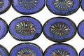 Czech Glass Opaque Denim Blue Oval w/ Star Window 14x10mm