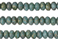 Czech Glass Lustered Bronze Turquoise Fire Polished Rondelle 3x5mm