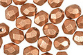 Czech Fire Polished Glass Matte Metallic Copper Round 6mm