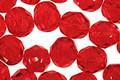 Czech Fire Polished Glass Siam Ruby Round 8mm