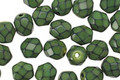 Czech Fire Polished Glass Olive Round Snake Beads 6mm