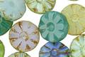 Czech Glass Spring Rain Daisy Coin 12mm
