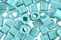 TOHO Opaque Turquoise Cube 3mm Seed Bead