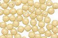 Czech Glass Opaque Light Beige Round 4mm
