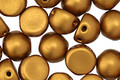 CzechMates Glass Matte Metallic Goldenrod 2-Hole Cabochon 7mm