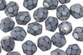 Czech Fire Polished Glass Grey Round Snake Beads 6mm