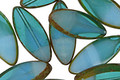 Czech Glass Aquamarine Waters Horse Eye 18x8mm