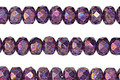 Czech Glass Metallic Amethyst Fire Polished Rondelle 3x5mm