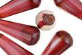 Czech Glass Raspberry Faceted Teardrop 20x8mm