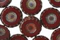 Czech Glass Oxblood Flower Coin 12mm