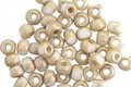 Czech Glass Etched Vanilla Trica Beads 3x4mm