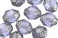 Czech Glass Tanzanite w/ Silver Lantern 10x8mm