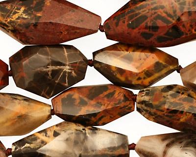 Pilbara Jasper Faceted Nugget 20-31x10-13mm