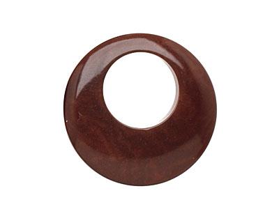 Tagua Nut Dark Brown Gypsy Hoop 25mm
