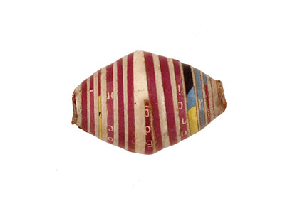 African Paper (magenta, white, stripe) Rice 24-26x16-17mm