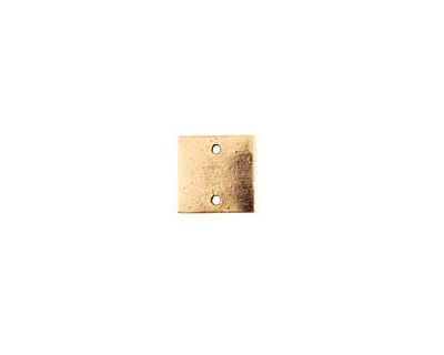Nunn Design Antique Gold (plated) Flat Mini Square Tag Link 13mm