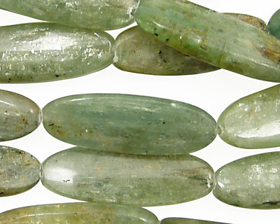 Green Kyanite Flat Oval 30x10mm