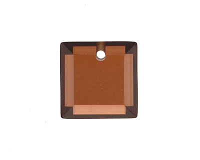 Coffee Faceted Square 18mm