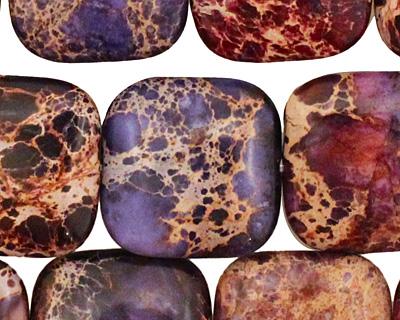 Purple Impression Jasper Puff Square 20mm