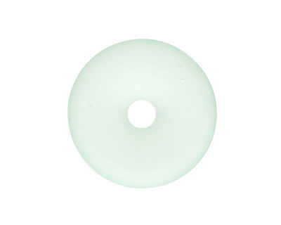 Seafoam Recycled Glass Donut 25mm