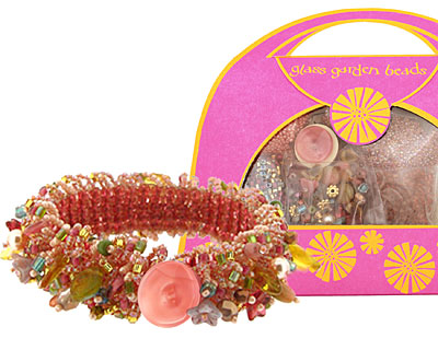 Glass Garden Bouquet Caterpillar Bracelet Kit