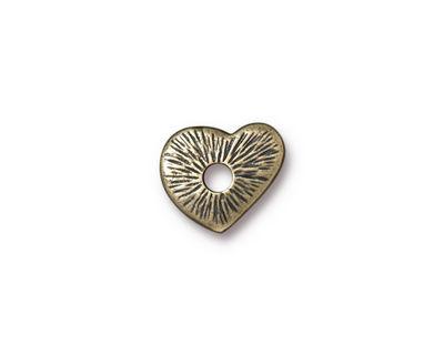 TierraCast Antique Brass (plated) Heart Rivetable 12mm