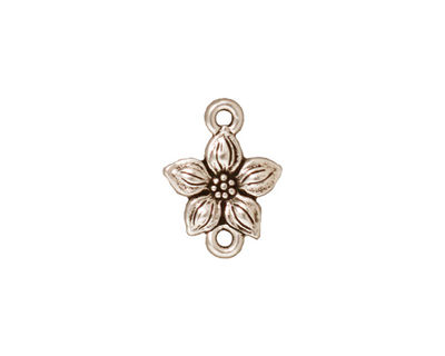 TierraCast Antique Silver (plated) Star Jasmine Link 12x16mm