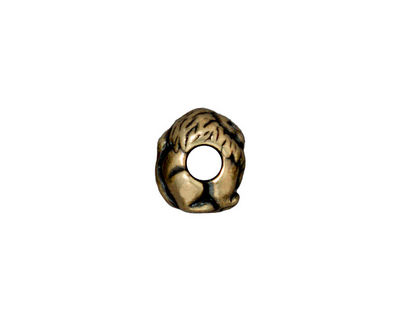 TierraCast Antique Brass (plated) Lion Euro 9x11mm