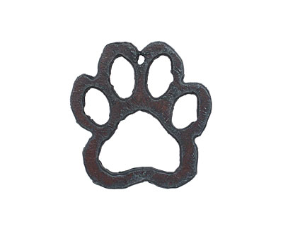 The Lipstick Ranch Rusted Iron Paw Pendant 35x36mm