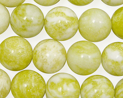Natural Lemon Jade Round 12mm