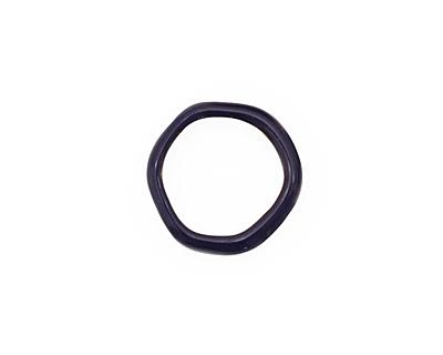 C-Koop Enameled Metal Dark Blue Large Ring 16-17mm