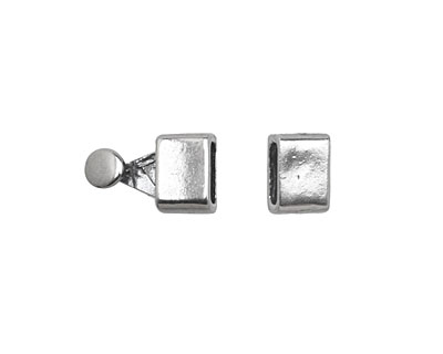 Antique Silver (plated) Blank Clasp 16x7mm
