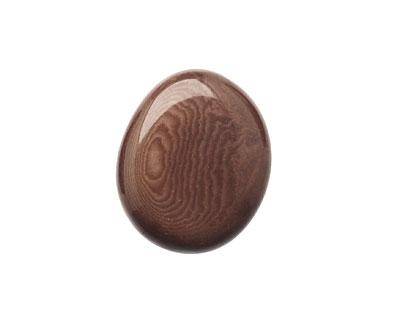 Tagua Nut Dark Brown Flat Pebble 35-45x28-37mm