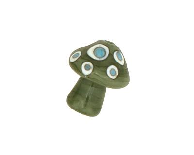 The BeadsNest Lampwork Glass Olive Mushroom 19-22x16-18mm