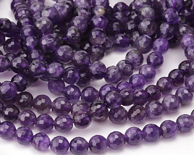 Amethyst Faceted Round 8mm