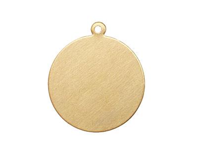 Brass Circle Blank Pendant 23x26mm