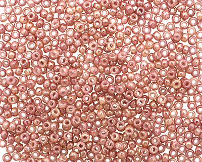 TOHO Marbled Opaque Beige/Pink Round 11/0 Seed Bead