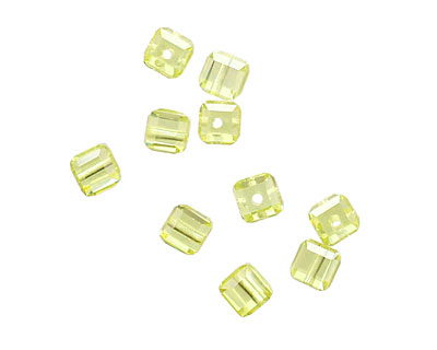 Lemon Ice Faceted Cube 4mm