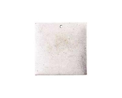 Nunn Design Antique Silver (plated) Flat Grande Square Tag 31mm