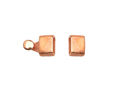 Copper (plated) Blank Clasp 16x7mm