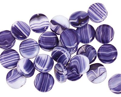 Czech Glass Marbled Cobalt Coin 8mm