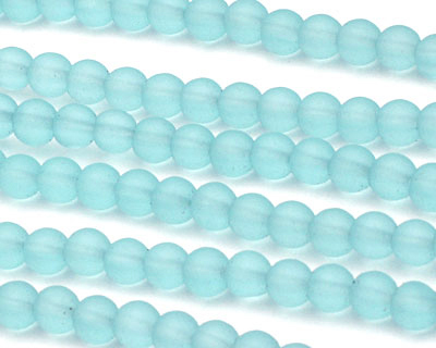 Turquoise Bay Recycled Glass Round 4mm