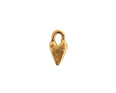Nunn Design Antique Gold (plated) Primative Heart Charm 7x14mm