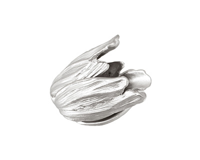 Ezel Findings Rhodium (plated) Tulip Bead Cap 18x16mm