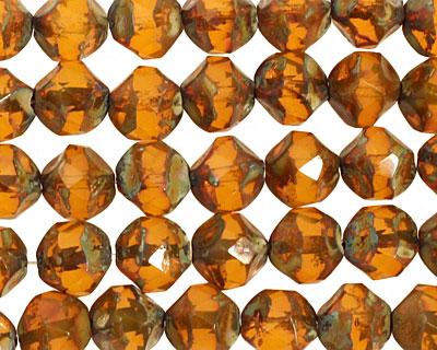 Czech Glass Butterscotch Chandelier Cut 8mm