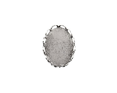 Nunn Design Antique Silver (plated) Vetri Lace Oval Frame 13x18mm